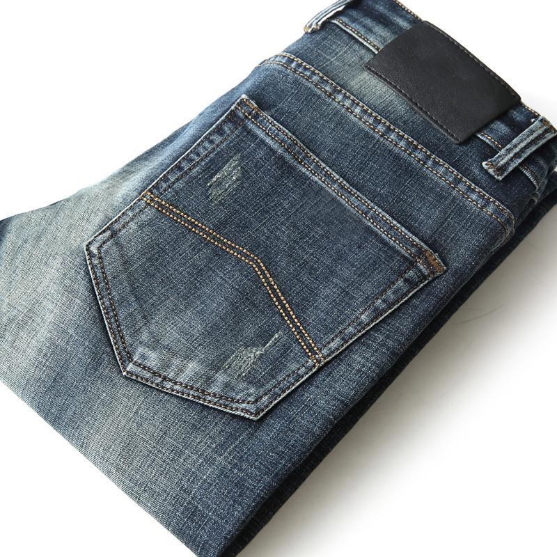 Jeans pour hommes automne hommes coton mince élastique italie aigle marque mode pantalon d'affaires masculin classique style denim