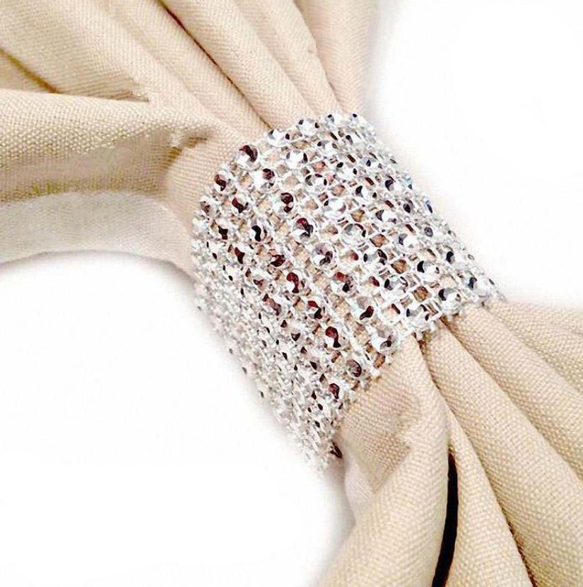 Выдолбленные 8 рядов сетчатые буровые золотые салфетки пряжка кольцо PP пластиковые свадебные фестивальные принадлежности для общественного питания 122209
