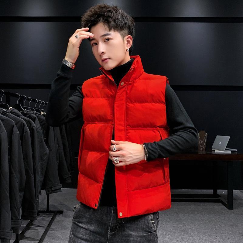 Gilet manteau d'hiver chaud colle collier manches sans manches veste en coton décontracté gilet polyvalent