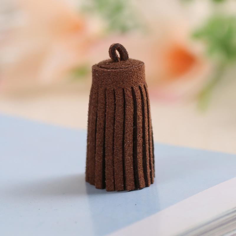 20 pc Faux Leather Mini Tassel Fringe DIY Jóias Chaveiro Correias Artesanato Pingente Artesanato Fazendo Borlas Tecido Decor Acessórios H Jllweh