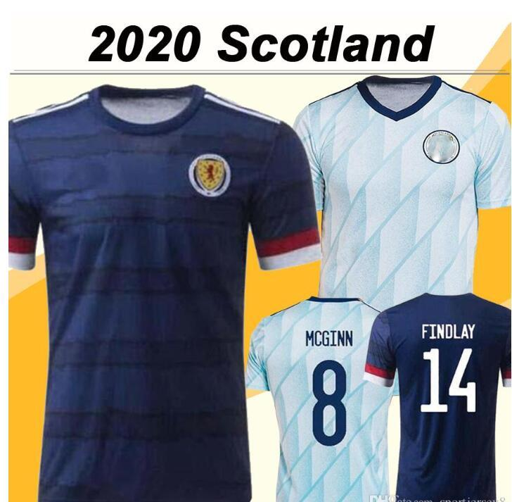 2020 McGregor Griffiths Robertson Mens Futbol Formalar İskoçya Milli Takımı Shankland Findlay McGinn Eve Uzaktan Futbol Gömlek Üniformaları