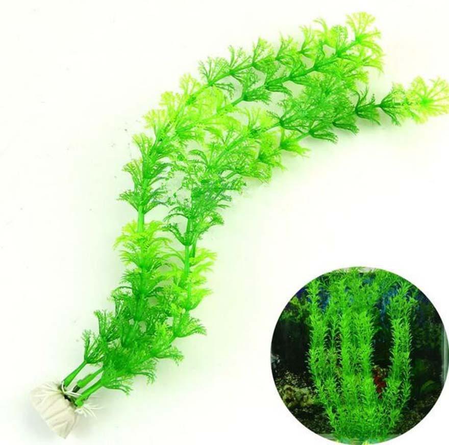 Gefälschte Wasserpflanzen Aquarien Dekorationen Aquarium Landschaft Kunststoff Künstliche Blumen Gras Pet Supplies