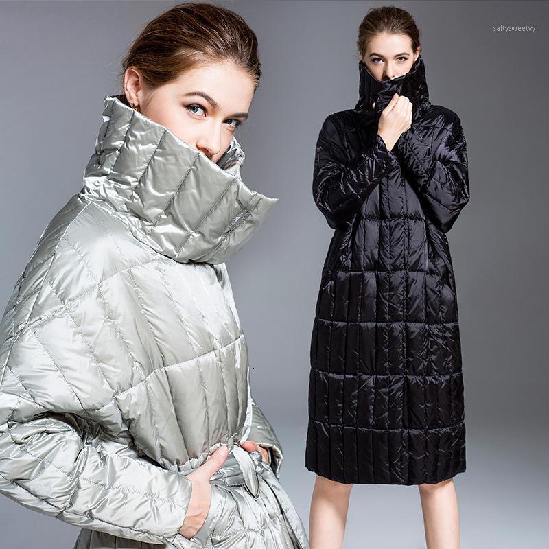 2020 осень зимняя куртка женщины утка вниз стройные длинные парки женские теплые стеганые пальто плюс размер ультра легкая верхняя одежда пальто женский1