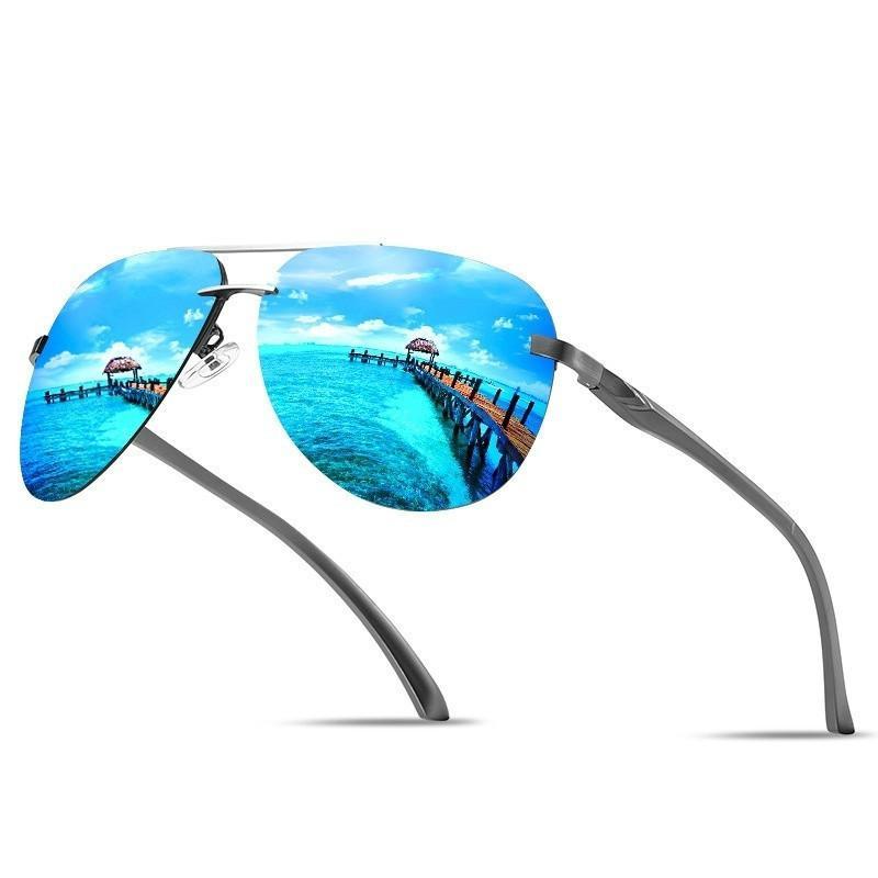 Top marca design homens polarizados óculos de sol Pesca dirigindo para homens / mulheres sem aro óculos de sol hd anti-vertigem óculos