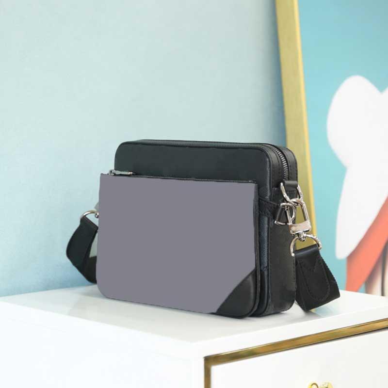 Vente chaude Mens Messenger Sac 3 Morceau Set de mode Cuir Sac à bandoulière Hommes de haute qualité avec sac à dos de monnaie sac à main sac à main