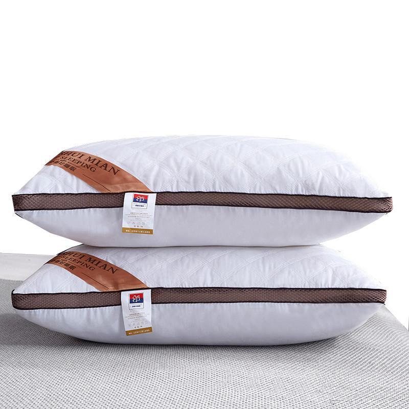 74x48 cm Lungo Collo cuscino letto Letto per dormire Alleviare la fatica cervicale Penna a spalla Dolore Piedino Riempimento Core Cotton Ricamo 1 PC 201219