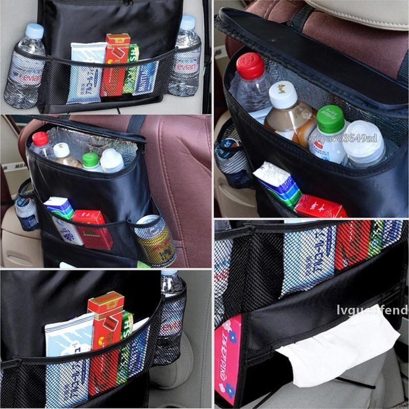 Venta al por mayor Auto Back Air Asiento Organizador Holder Multi-Pocket Travel Almacenamiento Colgante Bolsa de colgante H210758