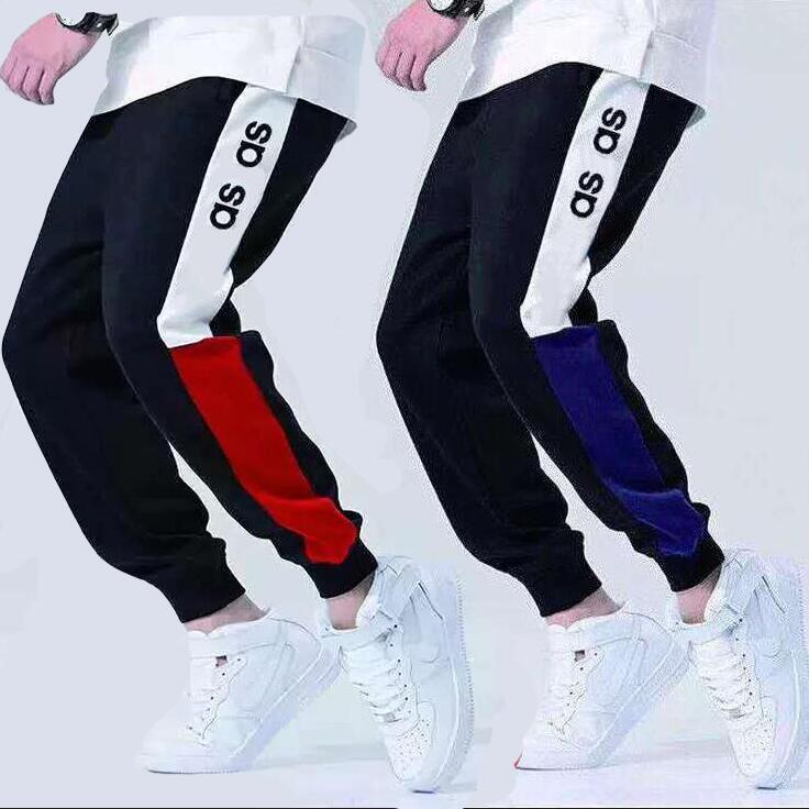 Fashion- Mens Pantalones High Street Joggers para Hombres Sweetpants Otoño Hombre Pantalones Pantalones Juggers Letters Bordado Moda Stradering Stretchy Jo