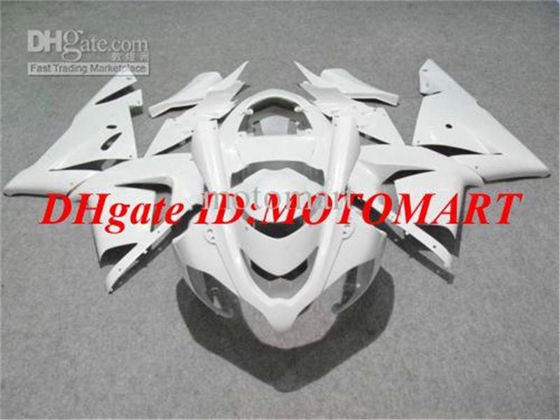 KREW6 FUNINGSET VOOR KAWASAKI NINJA ZX10R 04 05 ZX-10R 2004 2005 ZX 10R 04 05 COMPLETE WHITE HALLERS SET
