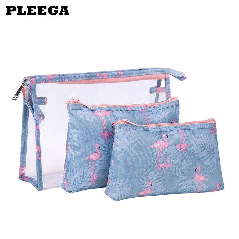3 Set Make Bags Up Viaggi Borsa da viaggio Donna Makeup Storage Organizzatore Impermeabile Prodotti da toeletta Impermeabile Casi cosmetici multifunzione femminile DDKRW