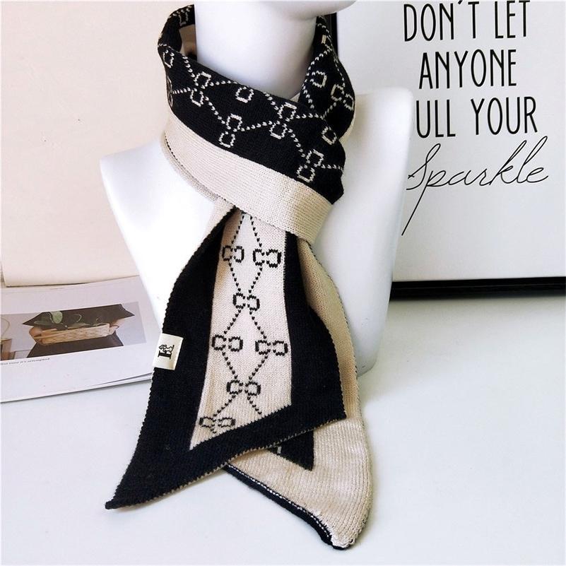 Женские лоскутные кашемировые шарфы леди зима утолщенные теплые мягкие пашмина шали оборачивает женский черный вязаный шерсть длинный шарф 201210