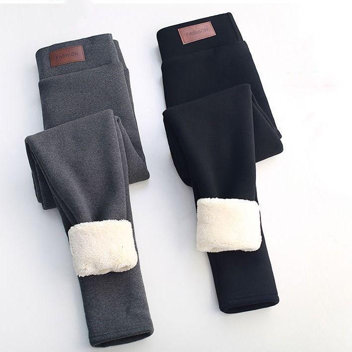 Thermal Leggings High Tail for Flanel Streetwear Winter Casual Broek Women 3xl