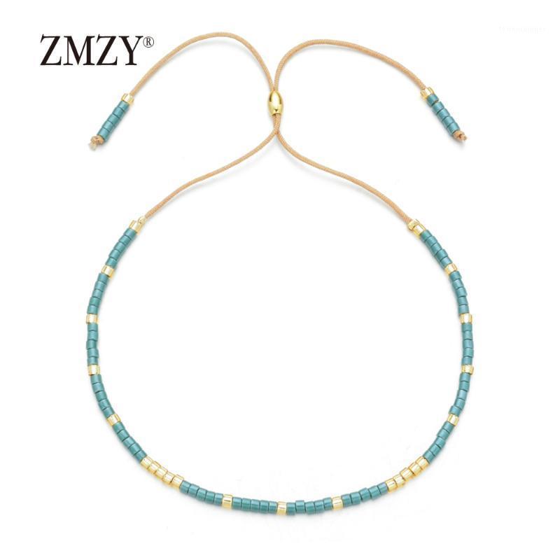 Charme Armbänder Zmzy Boho Multicolor Miyuki Für Frauen Niedlichen Mini Delica Perlen Armband Schmuck Verstellbare Seilkette Femme1
