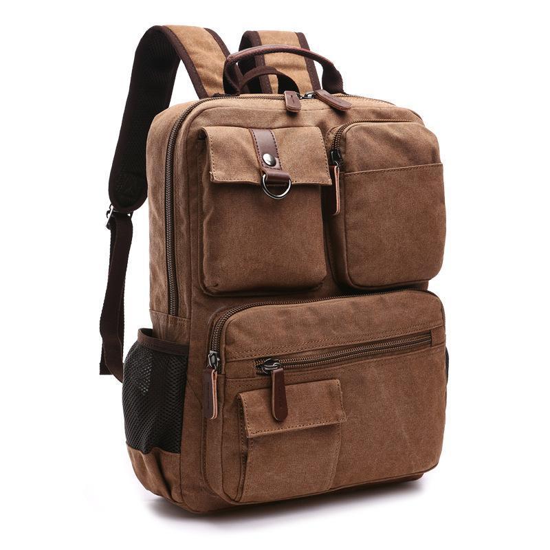جديد قماش mochila الصلبة حقيبة سفر بولسا rucksack masculina كمبيوتر محمول حقيبة كيس من الحقائب اجتماعيون أكياس دفتر الظهر الرجال ECVXW