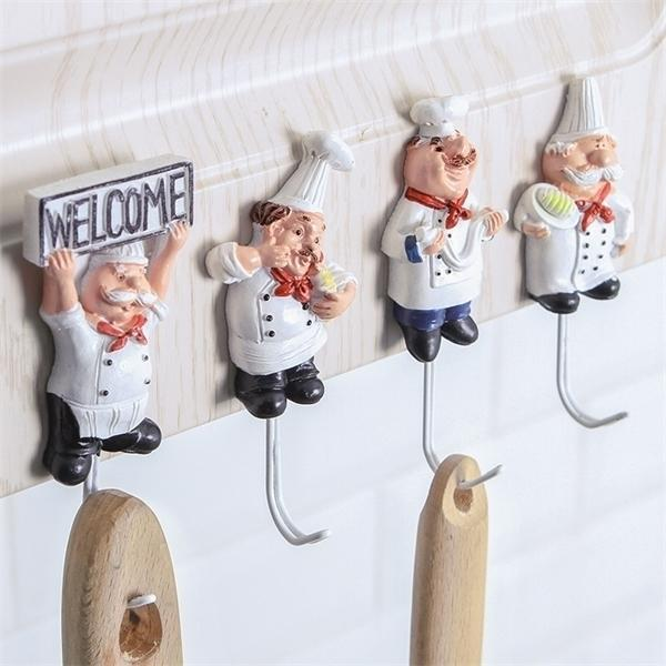 Accessories Gadget 4pc/set Cooker Design Plugs Holders Hanger Strong Hooks Kitchen Tools Supplies Goods for Home