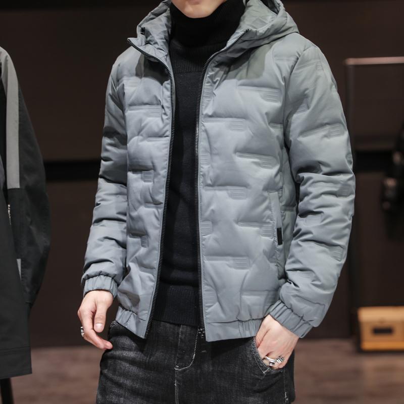 Erkek 2020 Yeni Kış Parka Büyük Rahat Ceket Cepler Katı Kalınlaşmak ve Sıcaklık Dış Giyim Ceket Boyutu 5XL ile