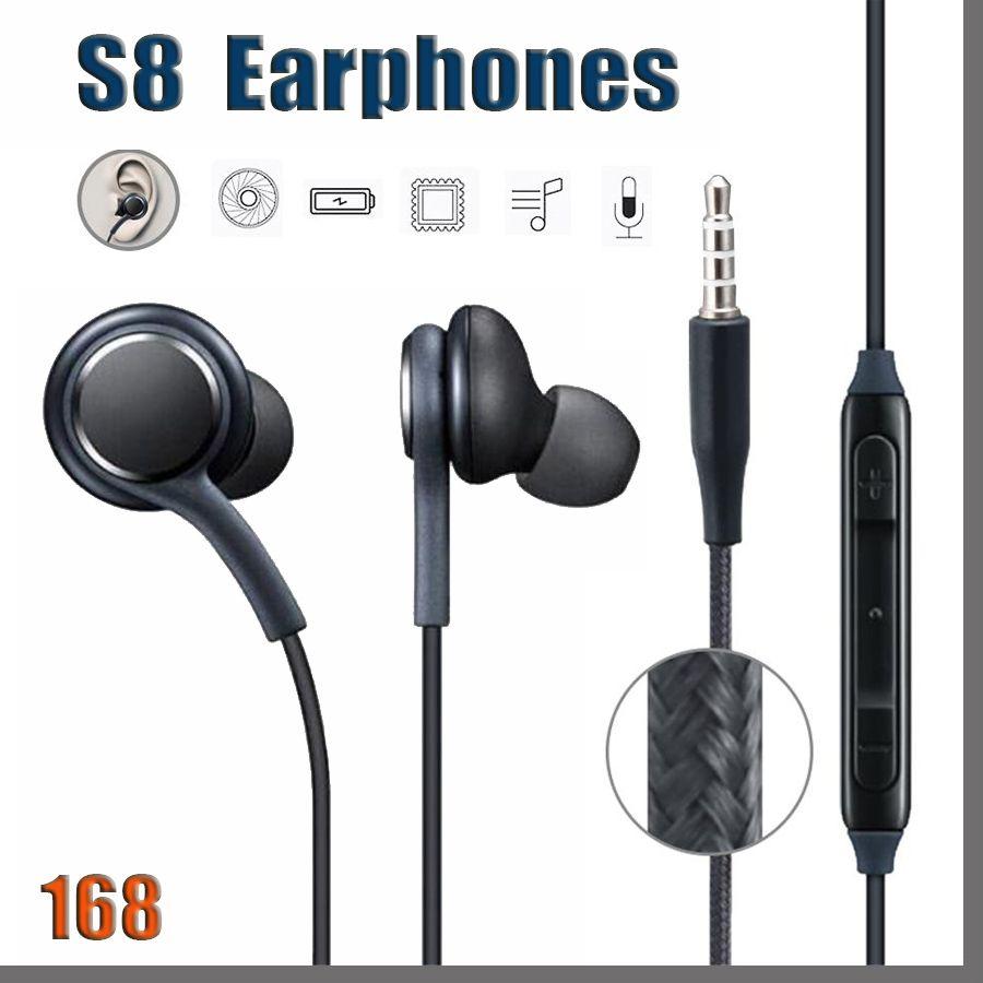 168D S8 Earphone Headset Mic For Samsung Galaxy S8 S9 S10 Note 3.5mm Jack headphone Headphones EO-IG955BSEGWW Handsfree Earbuds Smart Phone