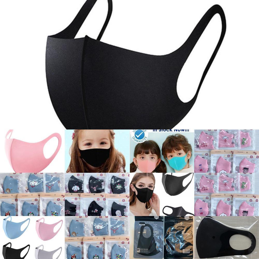 Máscaras face protetoras Preto Reusável Crianças Adult Anti Poeira Máscara Facial Lavável Pano Algodão Respirador FAQ0