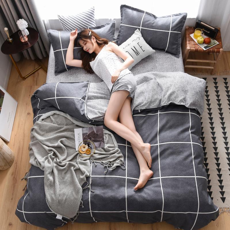 Bedding Sets Geometric Comforter Set 3pcs Bed Linen Queen King Home Case Duvet Pillow Cover Textile