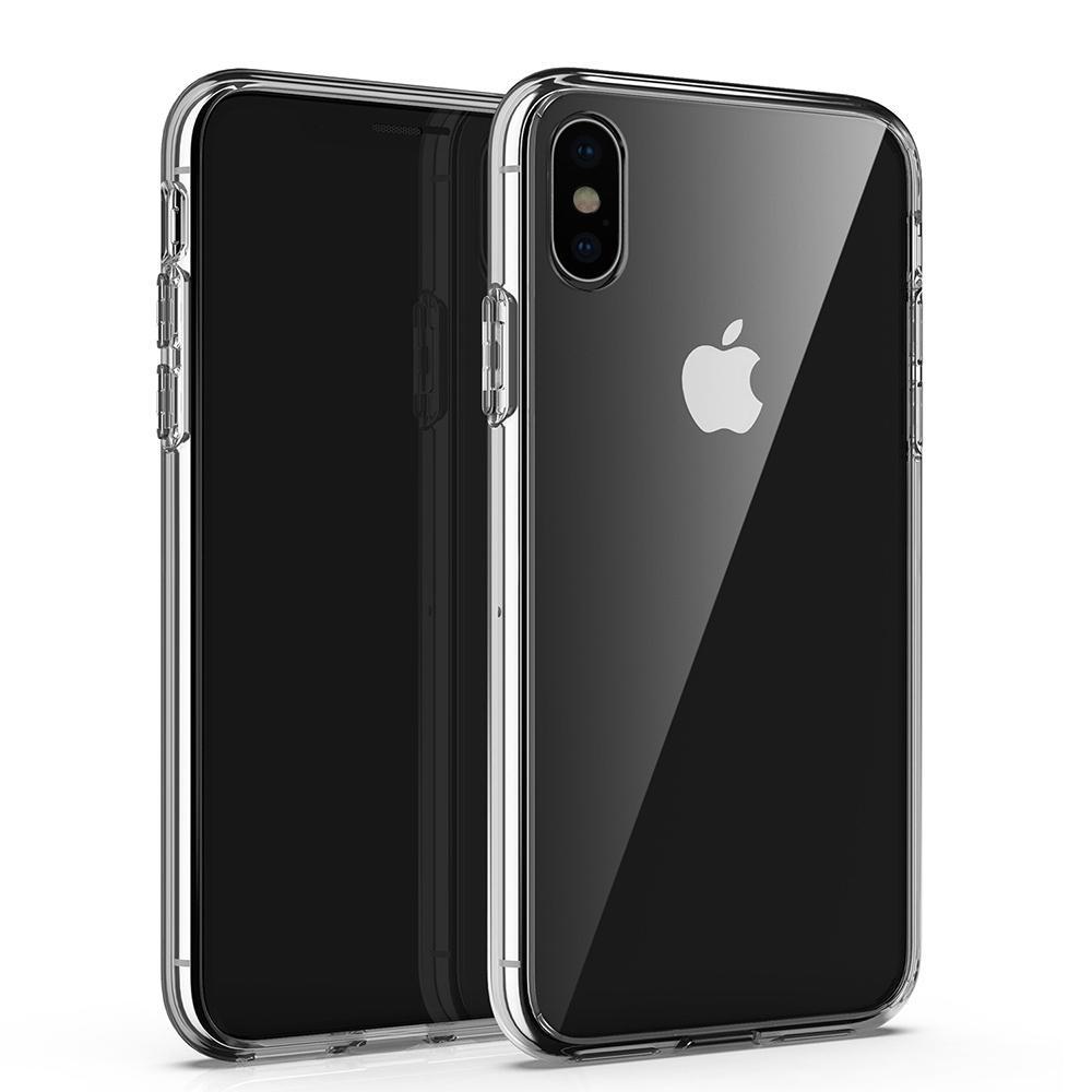 Apple iPhone 7 8 artı x XR XS Max 11 11Pro Şeffaf Cep Telefonu Kılıfı iPhone12 12Pro Tutkal TPU Koruma Oluk Malzeme Kılıfı