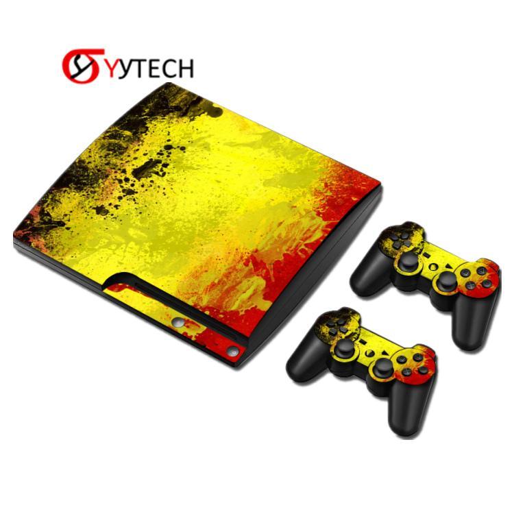 Syytech مصنع المبيعات المباشرة تحكم وحدة التحكم ملصقات الجلد الملونة مجموعة ل ps3 سليم عدة لعبة الملحقات