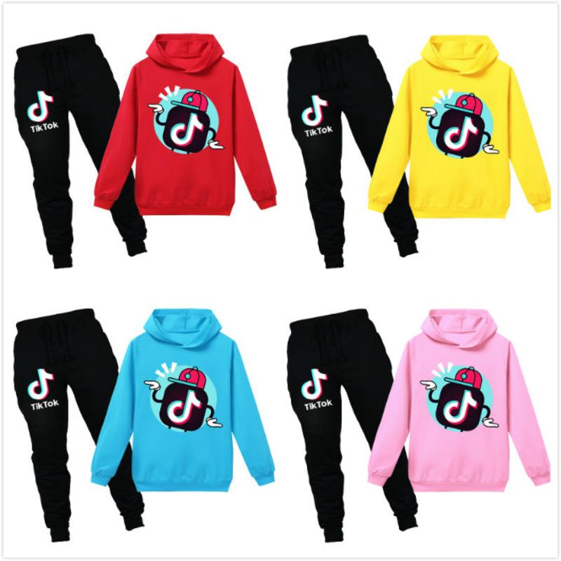 Tik Tok Kids Clothes Set Boys Girls TikTok Tracksuits Teenagers Sport Suit Teens Hoodies Sweatshirts Pants Hip Hop Clothing Lababy102