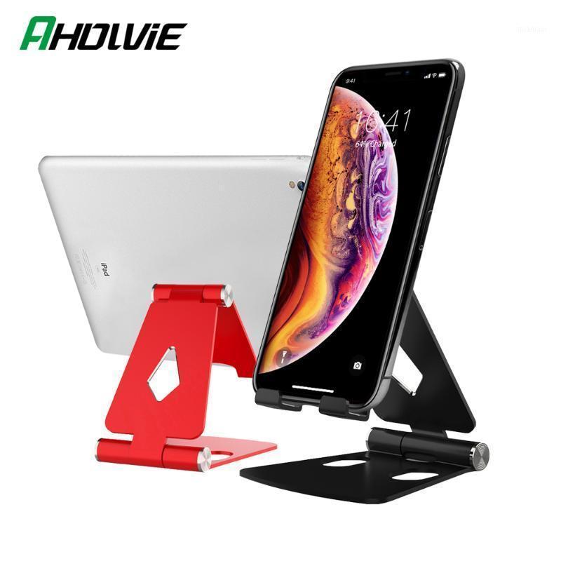 Suporte de suporte de porta de montagem do telefone celular para 7 8 6 mais x XR XS IPAD Metal de alumínio Mesa dobrável 111