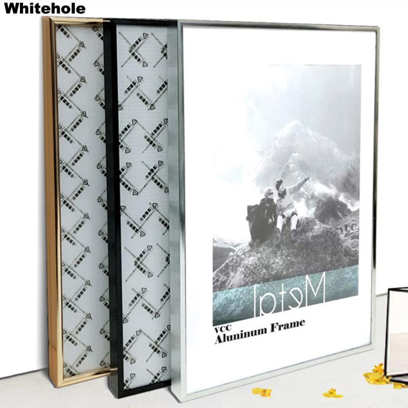 Cornice in metallo per muro poster telaio quadri immagini classiche in alluminio cornici per foto per parete appese A3 A4 30x40 certificato