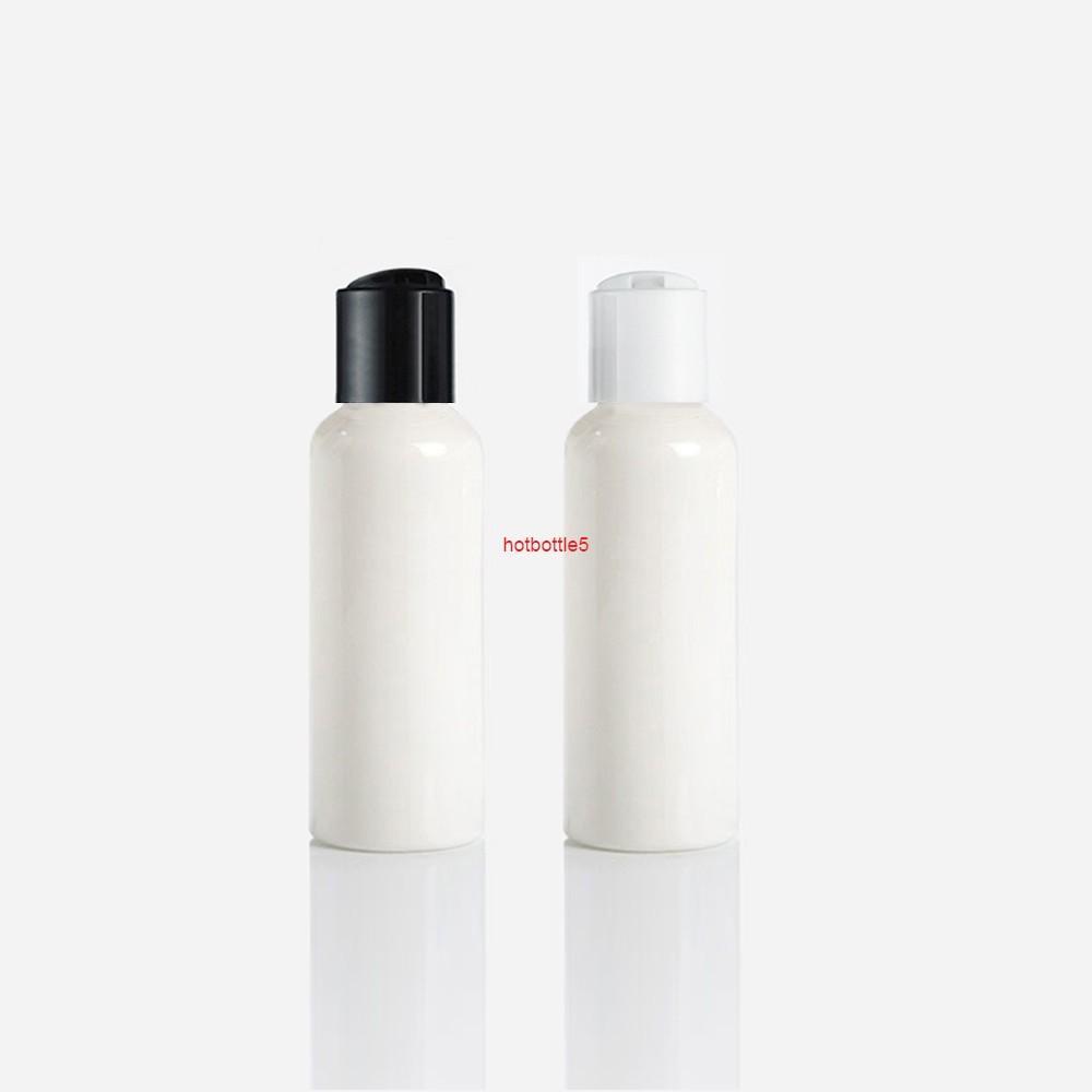 50 adet 100 ml Beyaz Plastik Boş Şişeler Ile Basın Kapağı (Disk Üstü) Losyon Şampuan Kozmetik Ambalaj Için Şişe Kalite