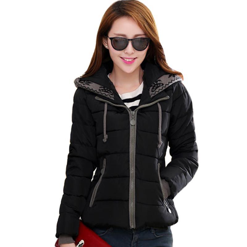 New Design Winter Jacket Women Hooded Cotton Padded Outwear Female Coat Casaco Feminino Inverno Short parka 201211