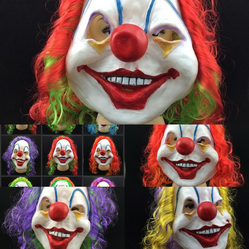Latex Jolly Payaso Accesorio para el cabello Malvado Killer