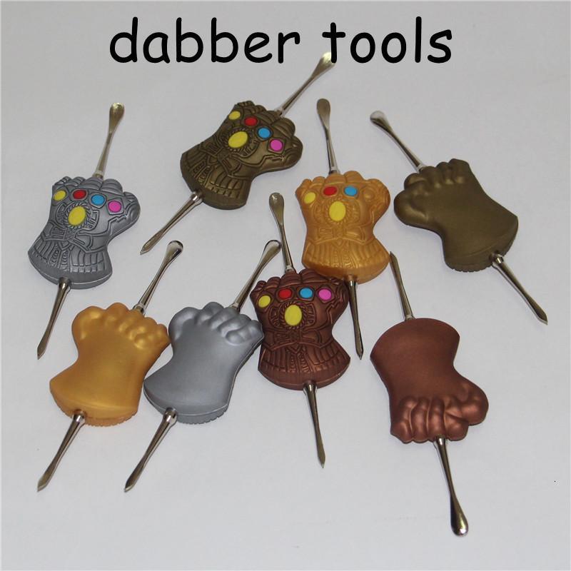 Нержавеющая воск 120mm Dabber Steel Tools DAB распылитель JAR курение инструмент сухой травяной титановый гвоздь для подружки ручки