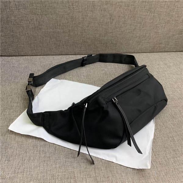A156 Mejor bolso de pecho de cuero Calidad Messenger Cinturón Cinturón Bolsas de lona Bolsa Sac Banane Hombres Mujeres Diseñador de cintura Tamaño clásico 25 * 14 * TJN TSQO