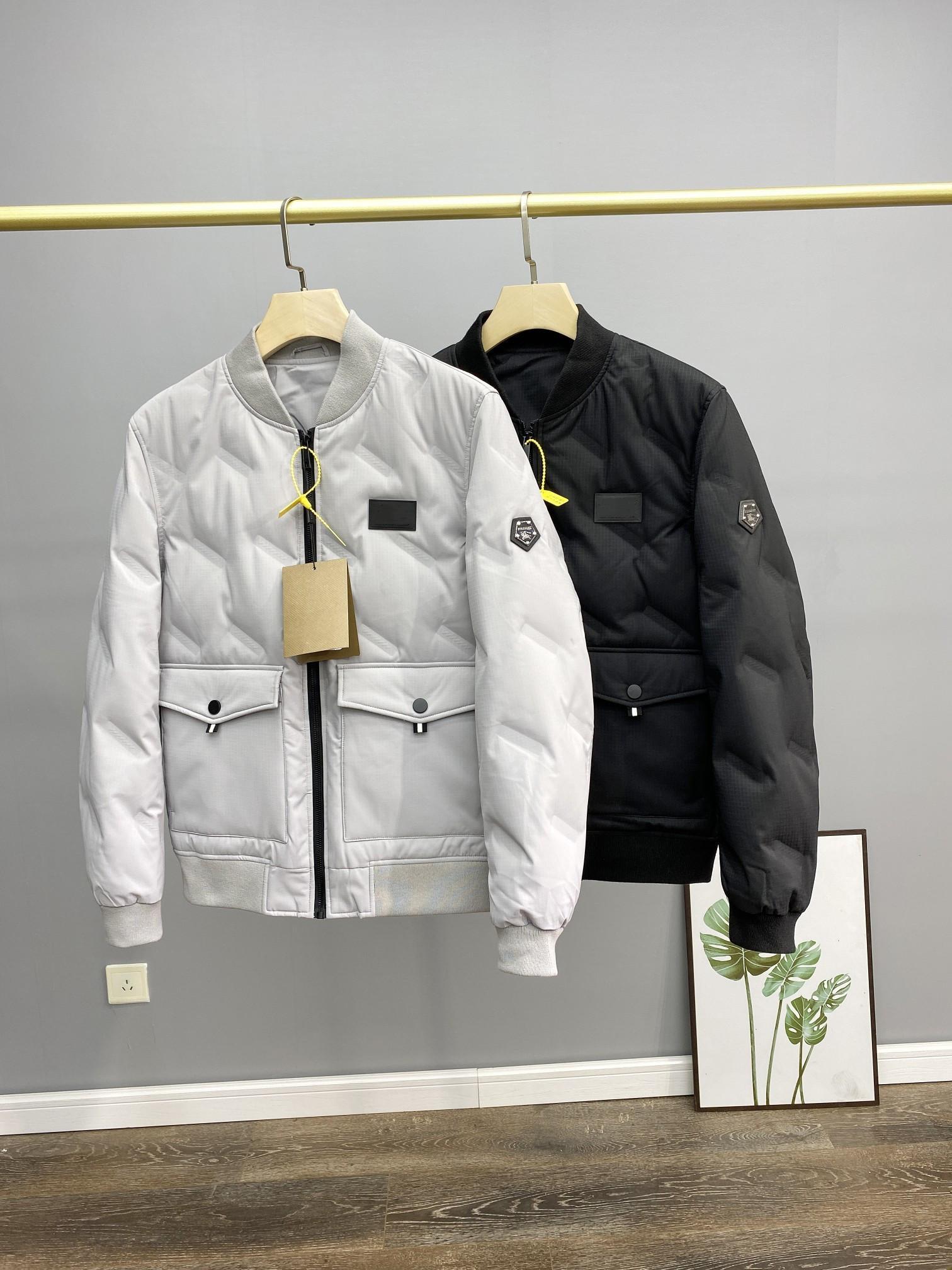 20ssisch Neues Baseballkragen Daunenjacke Winddicht, wasserdichte und warme weiße Ente Daunen langärmlige Jacke Freies Verschiffen