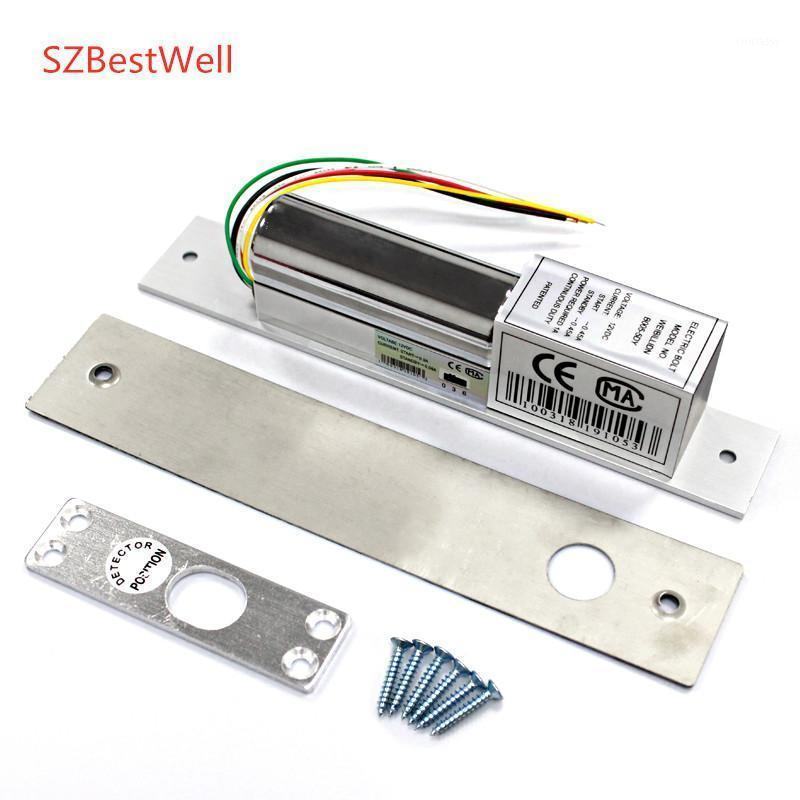 Fingerprint Access Control SZWell 2/5 Wires Metal Electric Bolt Lock Door Normal/Low Temperature With Time Delay For System Safety1
