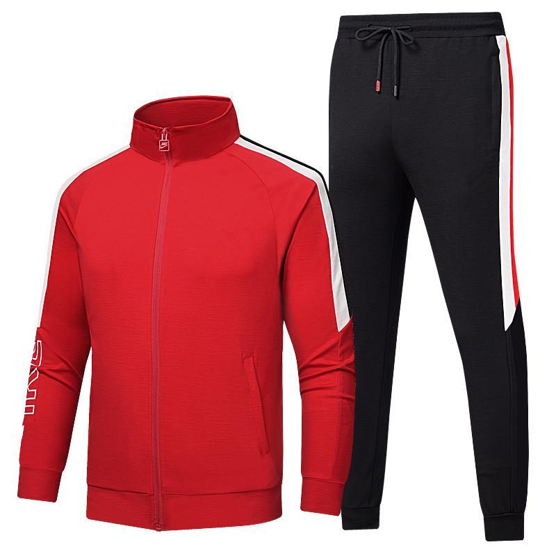 0810 Mens Design TrackSuits autunno e inverno di alta qualità in cotone da uomo comodo sottile giacca cardigan con cappuccio con cappuccio con cappuccio in due pezzi