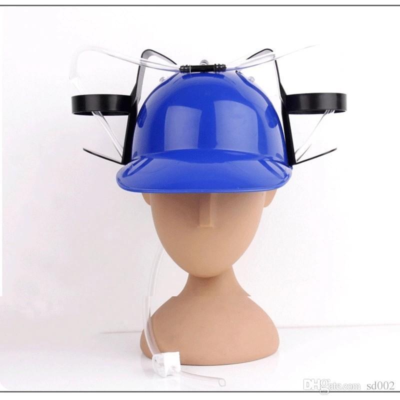 Plastik Içme Şapka Pratik Tembel Kask İçecek Tutucu Kapası ile Shraw Parti Ile Şeker Çocuk Doğum Günü Yenilik Hediye Yeni 10ch ZZ
