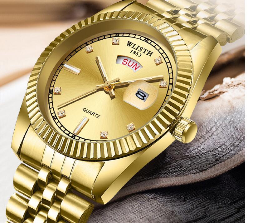 Wlisth Watch Man 2020 Reloj de pulsera de cuarzo de buena calidad Classic Eternal Fashion Hombres Relojes Male Saat Dropshipping Men's Watch