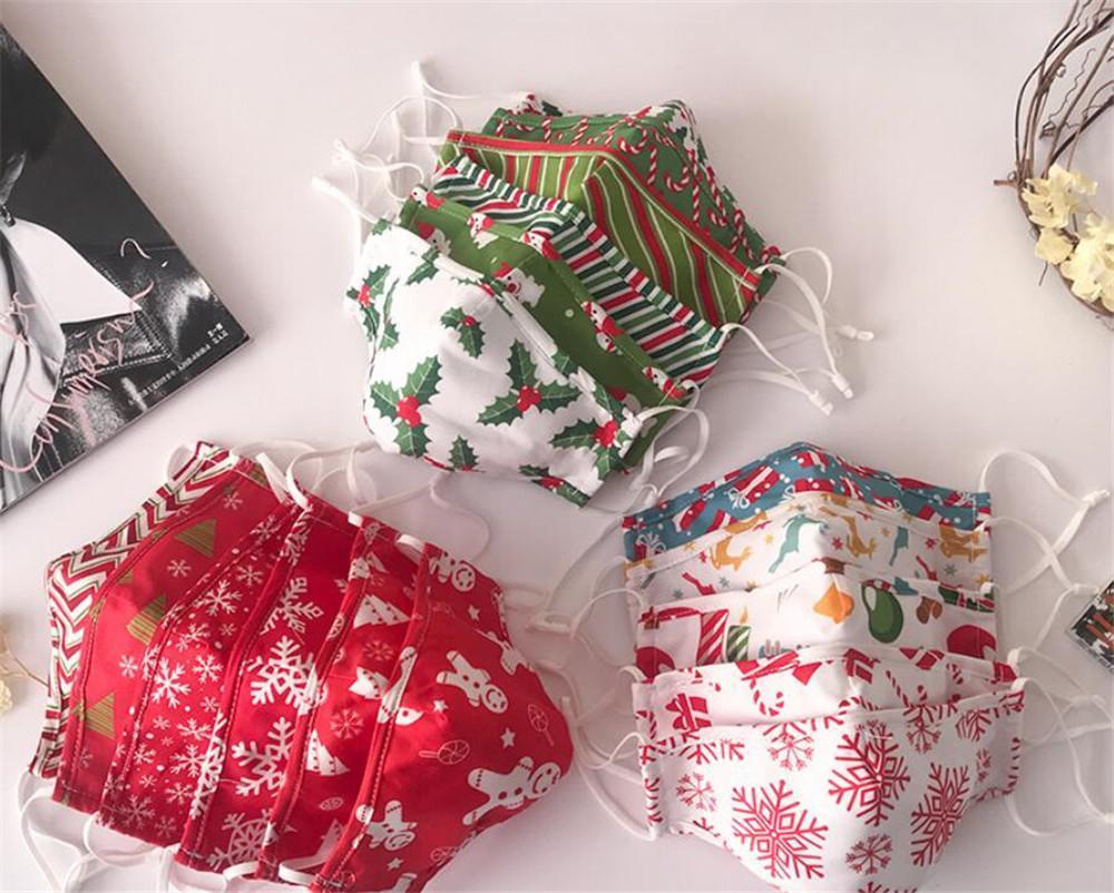 Masque de fête de Noël Joyeux Décoration de Noël Navidad Natal Cadeaux Santa Claus Couverture du visage Elk Bonne année CCB3556