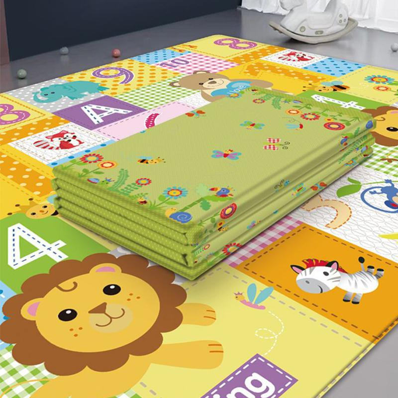Folleable Bebé Play Mat Puzzle Mat For Educated Children's Carpet In The Nursery Stimbing Pad Kids Rug Activitys Jueces Juguetes Q1120