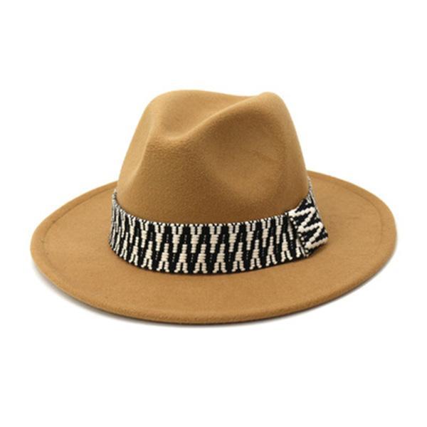 Fedora Şapkalar Kadın Erkek Açık Caz Caps Geniş Ağız Katı Renkli Grup Fascinator Sonbahar Siyah Beyaz Vintage Kış Kadın Şapkalar