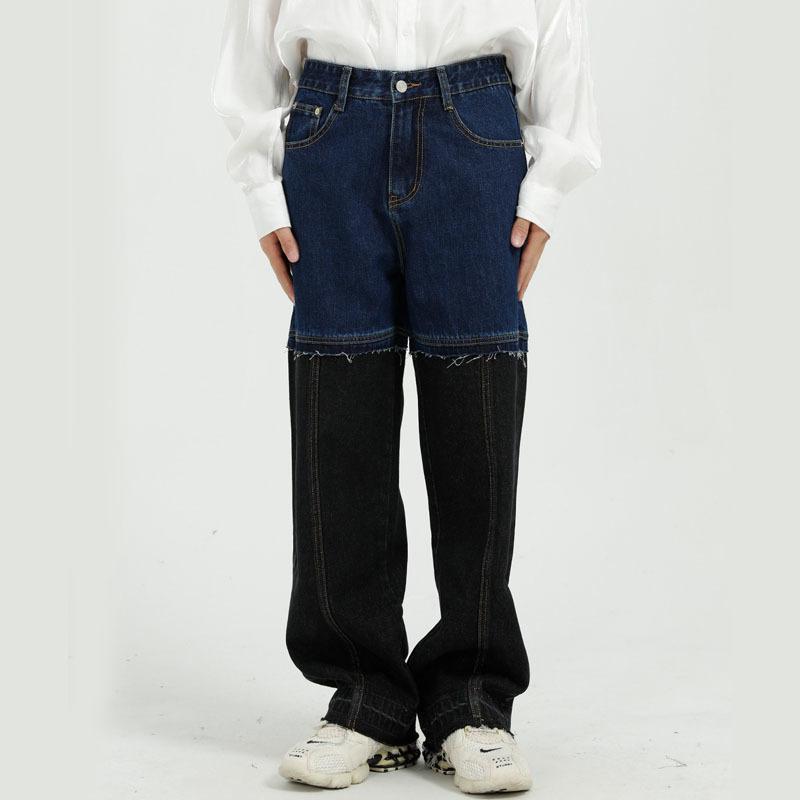 2020 empalme retro hombres recta japonesa coreografía calle pantalones de cadera pantalones vintage jeans lzyk