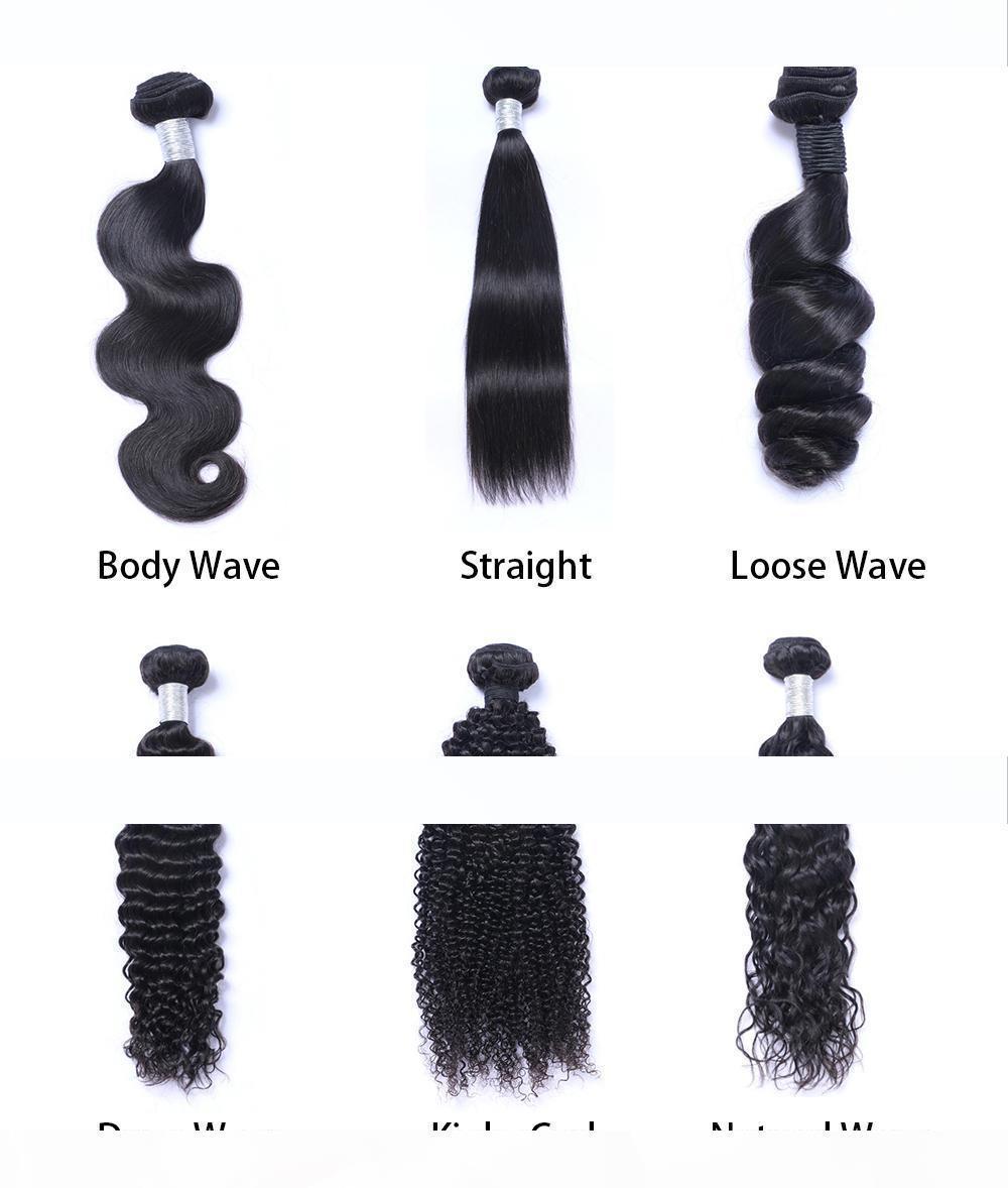 المنك البرازيلية مستقيم الجسم فضفاض موجة عميقة غريب مجعد غير المجهزة البرازيلي بيرو هندي الشعر البشري نسج حزم