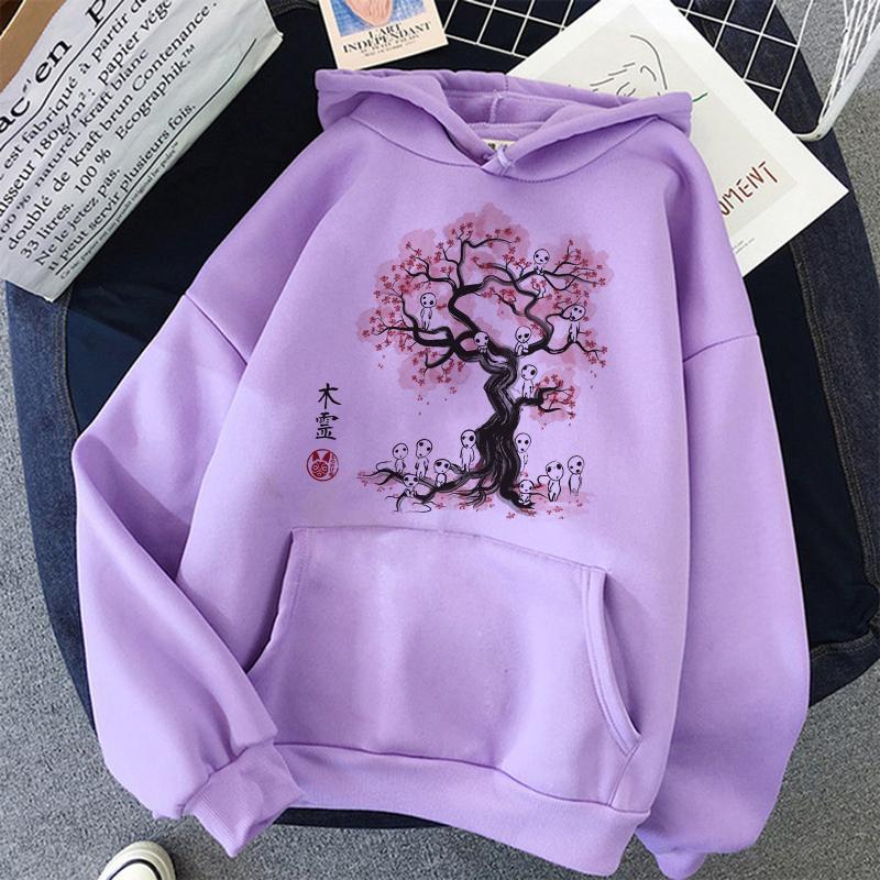Kawaii Totoro Studio Ghibli Kawaii Spirited Away cappuccio Donne Ullzang Cute Anime Graphic felpa moda anni '90 Hoody Femminile