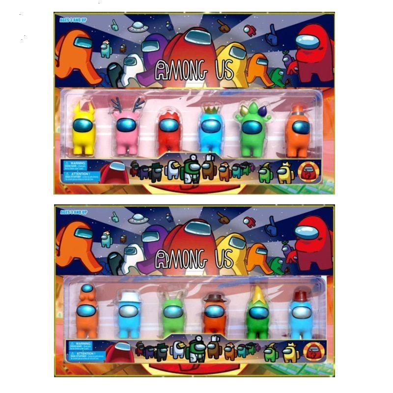 Dhl 6pcs / Set 2 styles parmi les jouets américains anime Figure Mini carton Modèles Action Toy Figurines jeu DIY Décoration Capsule Poupées Boîte aveugle
