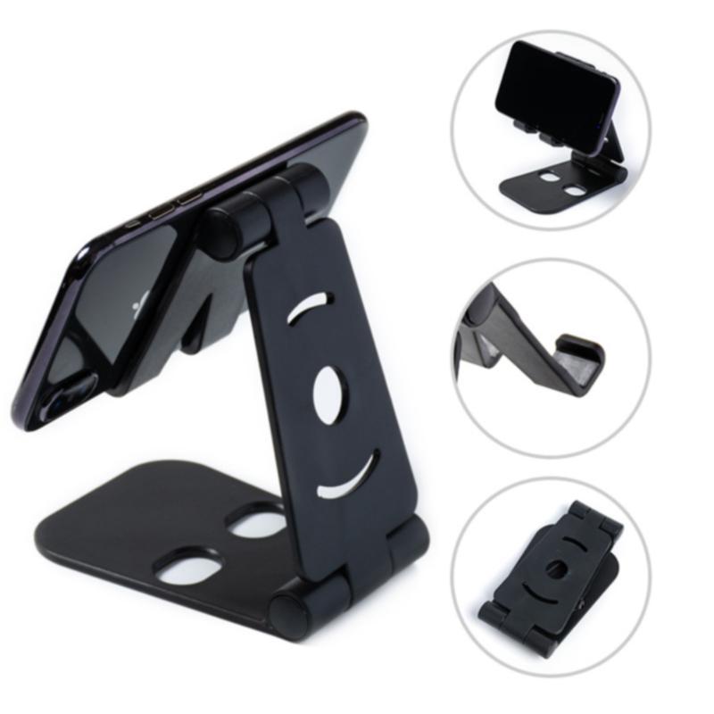 Phone Holder Bracket Foldable Mobile Desk Stand Travel Non Slip ABS Base Cell Universal Bracket Mini Tablet Portable
