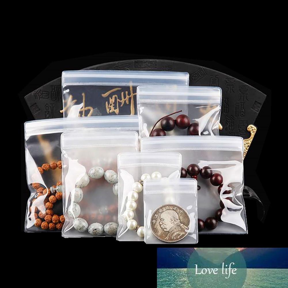 50pcs plastique anti-oxydation emballage sac Bijoux Bracelet anti-poussière Paquet d'emballage à glissière à la poussière Sac à brassage sévère