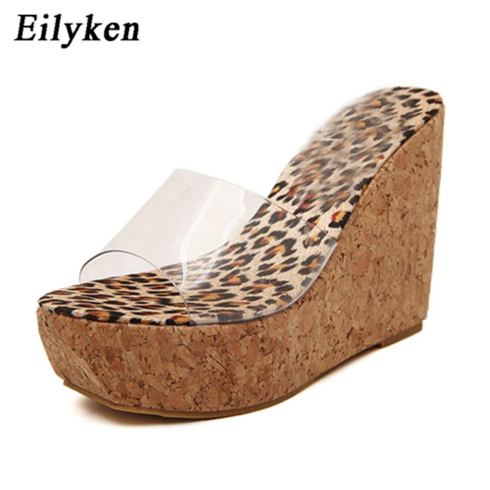 Eilyken 2021 New Summer Transparent Platform Wedges Sandals Women Fashion High Heels Female Summer Shoes Size 34-40 C0128
