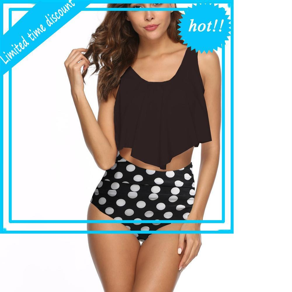 Plus Size Swimwear Weibliche mit Druck für Beachwear