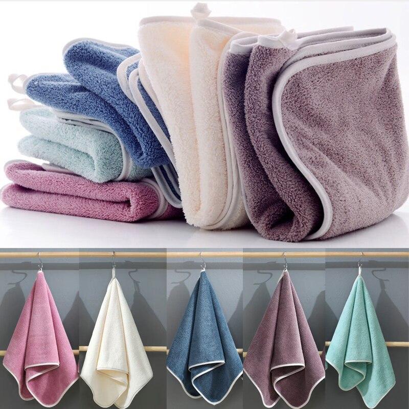 2шт высокой плотности коралловые флисовые тканевые полотенца простые абсорбирующие полотенца для взрослых мягкие умывальники